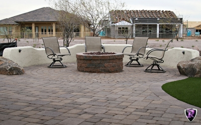 Arizona Royal Landscaping Travertine & Pavers